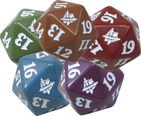 Dice D20 Spin Down