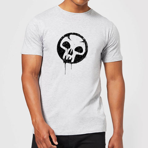 Black Mana Splatter Men's T-Shirt - Grey