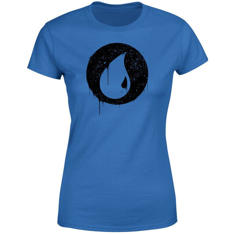 Blue Mana Splatter Women's T-Shirt - Royal Blue