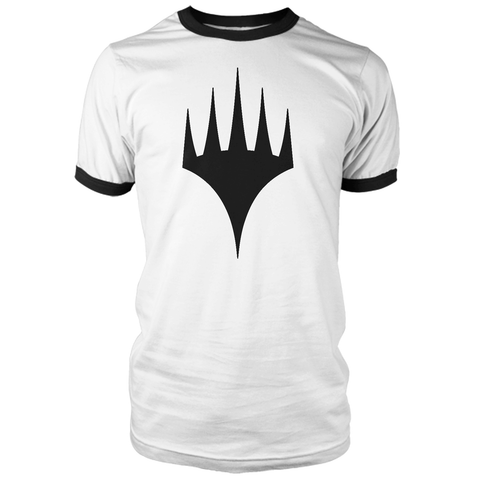 Black Logo Men's Ringer - White/Black