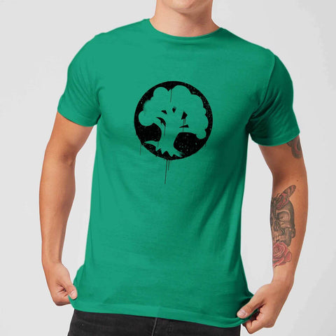 Green Mana Splatter Men's T-Shirt - Kelly Green