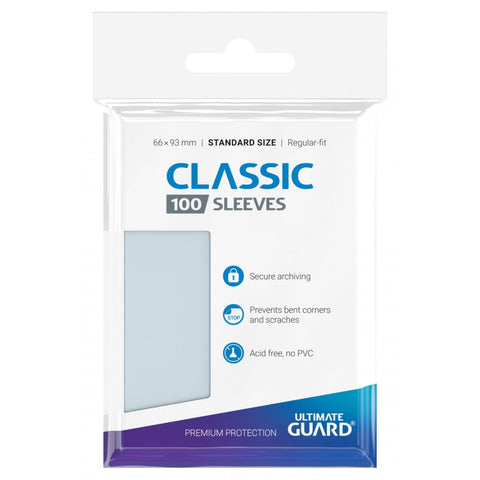 100 CLASSIC SOFT SLEEVES - Ultimate Guard