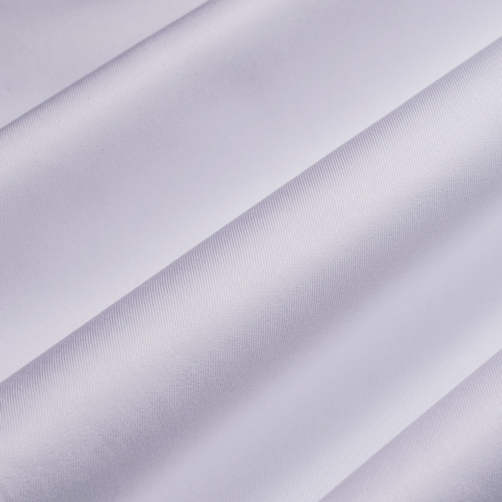 White Twill 2 Ply with Kutch Blue Contrast Shirt