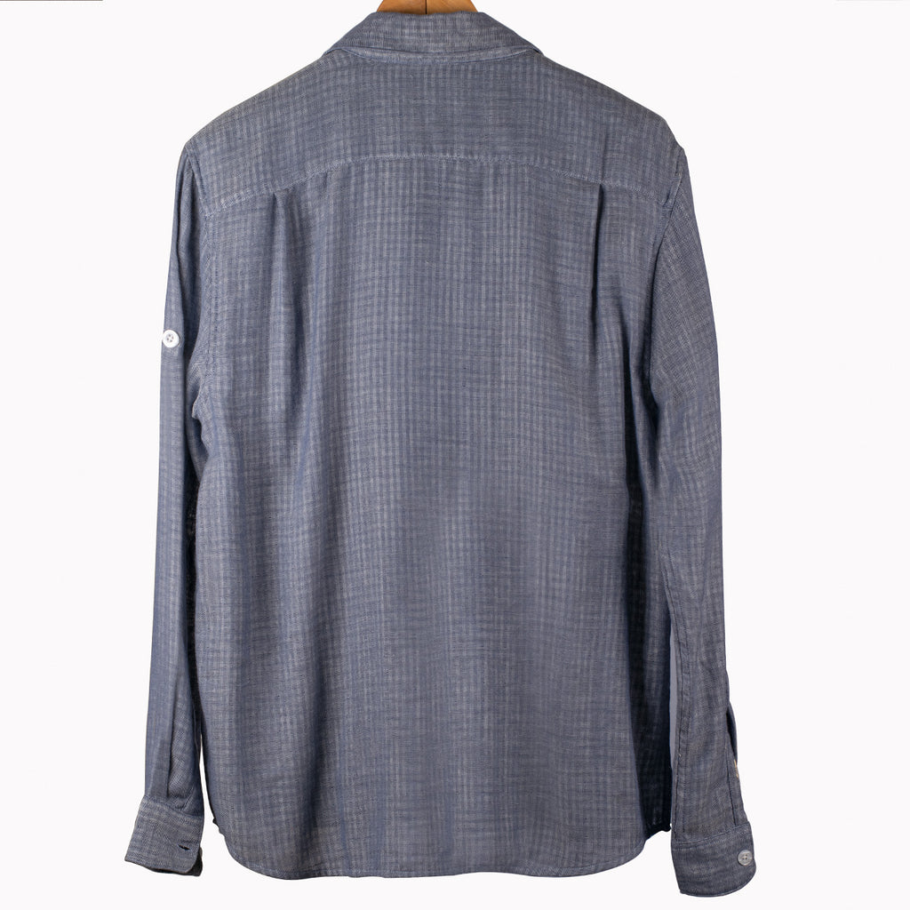 Luxurious Blue Grey Over Shirt