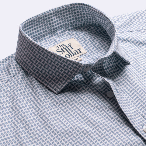 Royal Burgundy Houndstooth Shirt