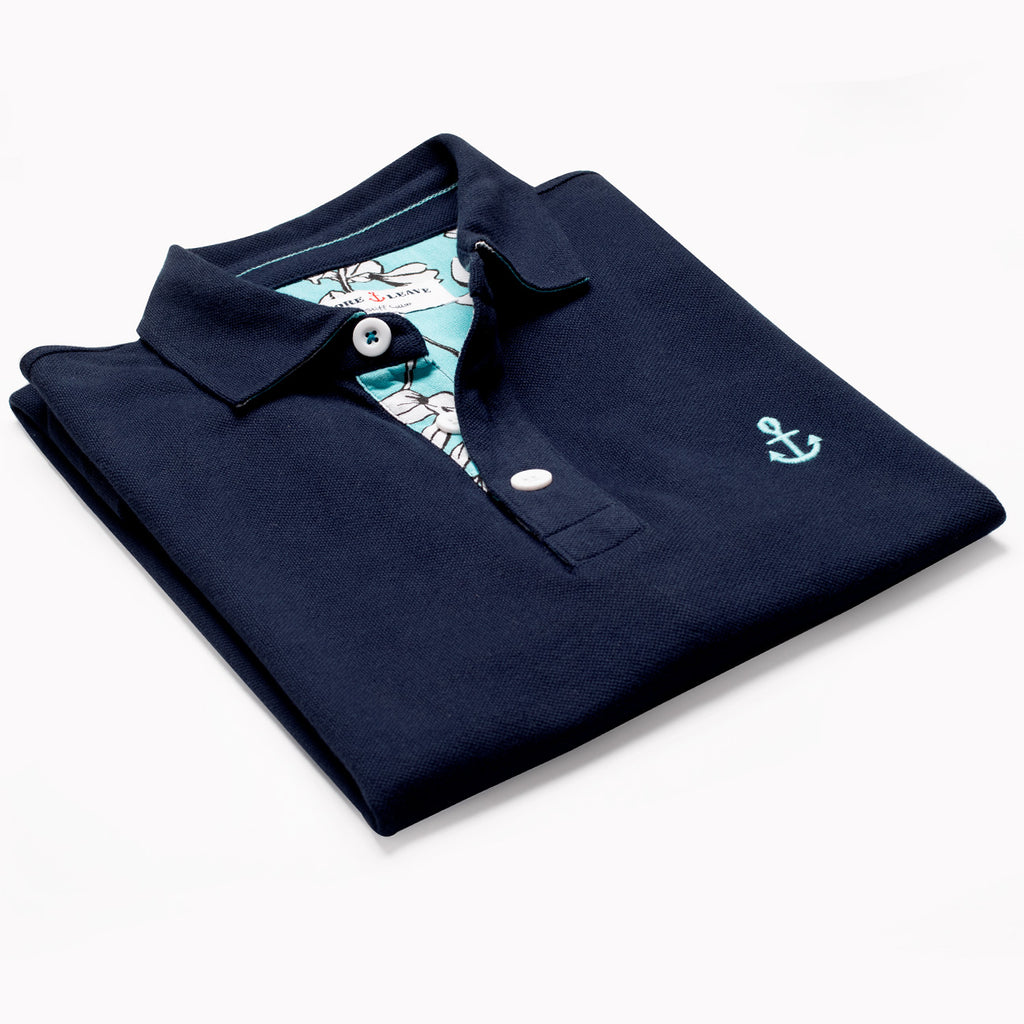 Navy Polo T Shirt