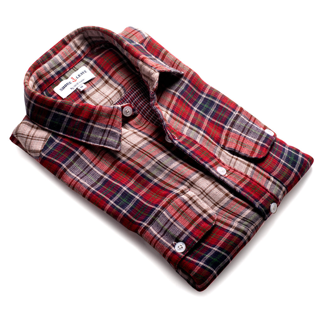 Luxurious Red & Black Plaid Over Shirt