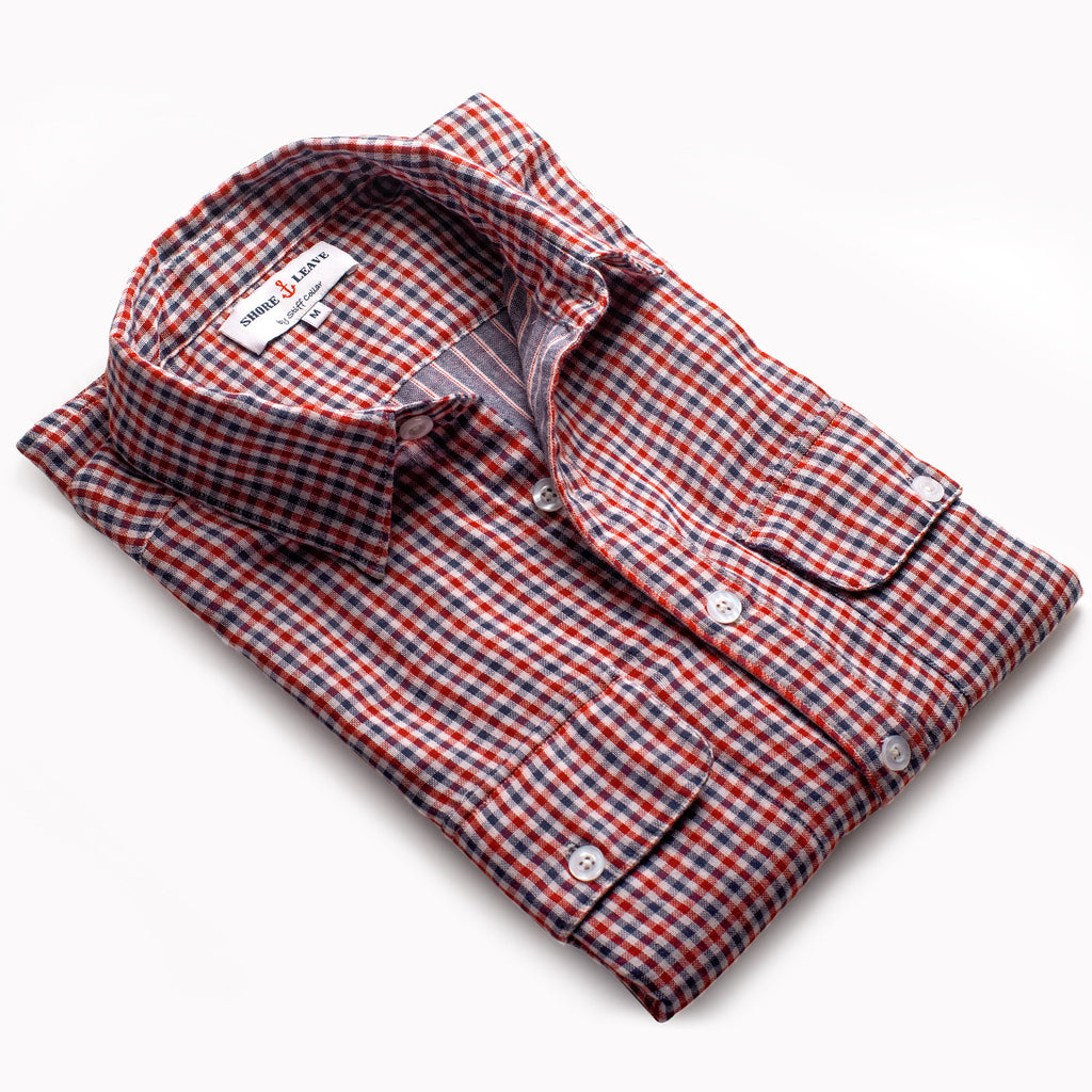 Gingham over shirt