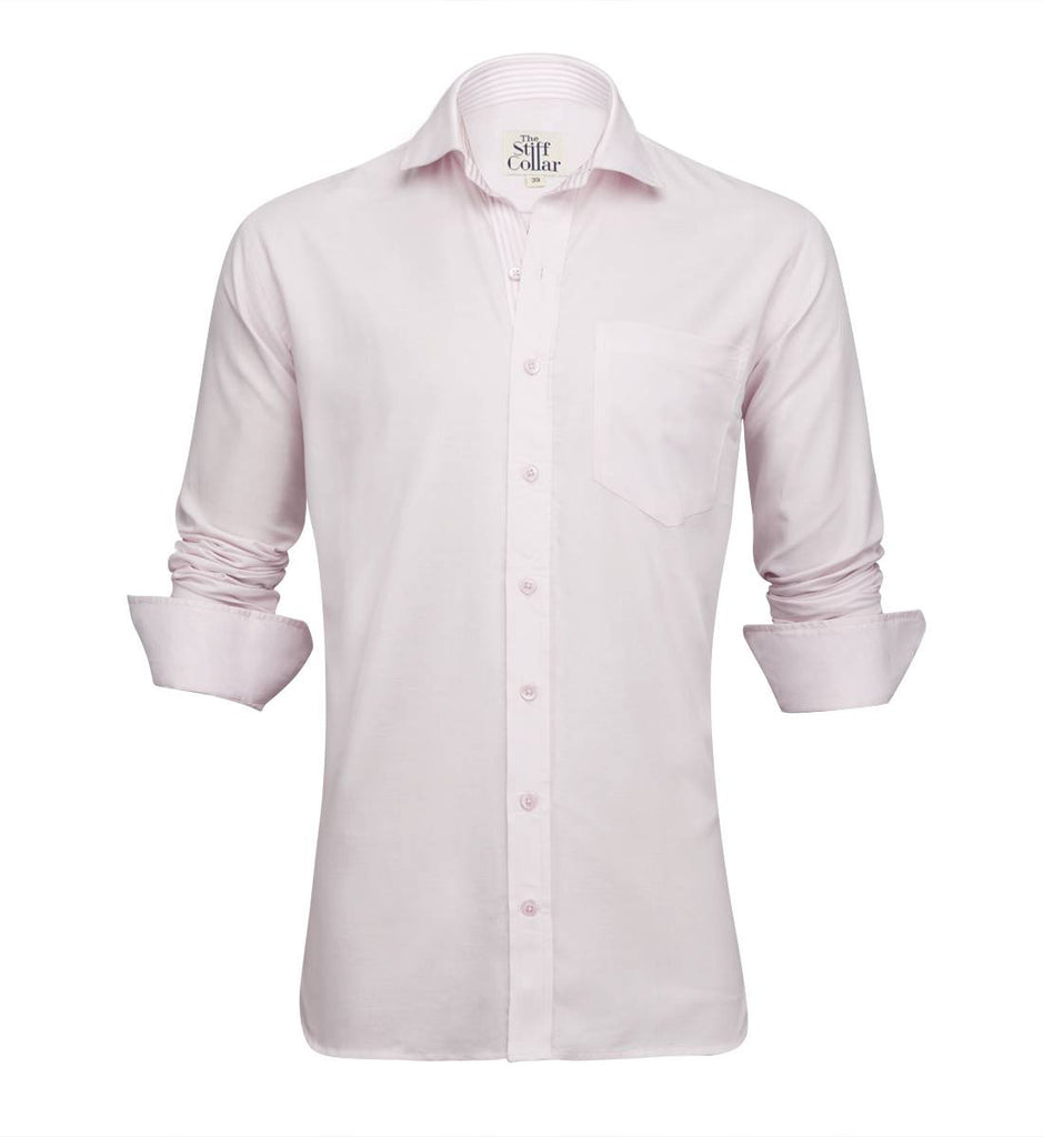 Pink Oxford Striped Inner Lining Shirt