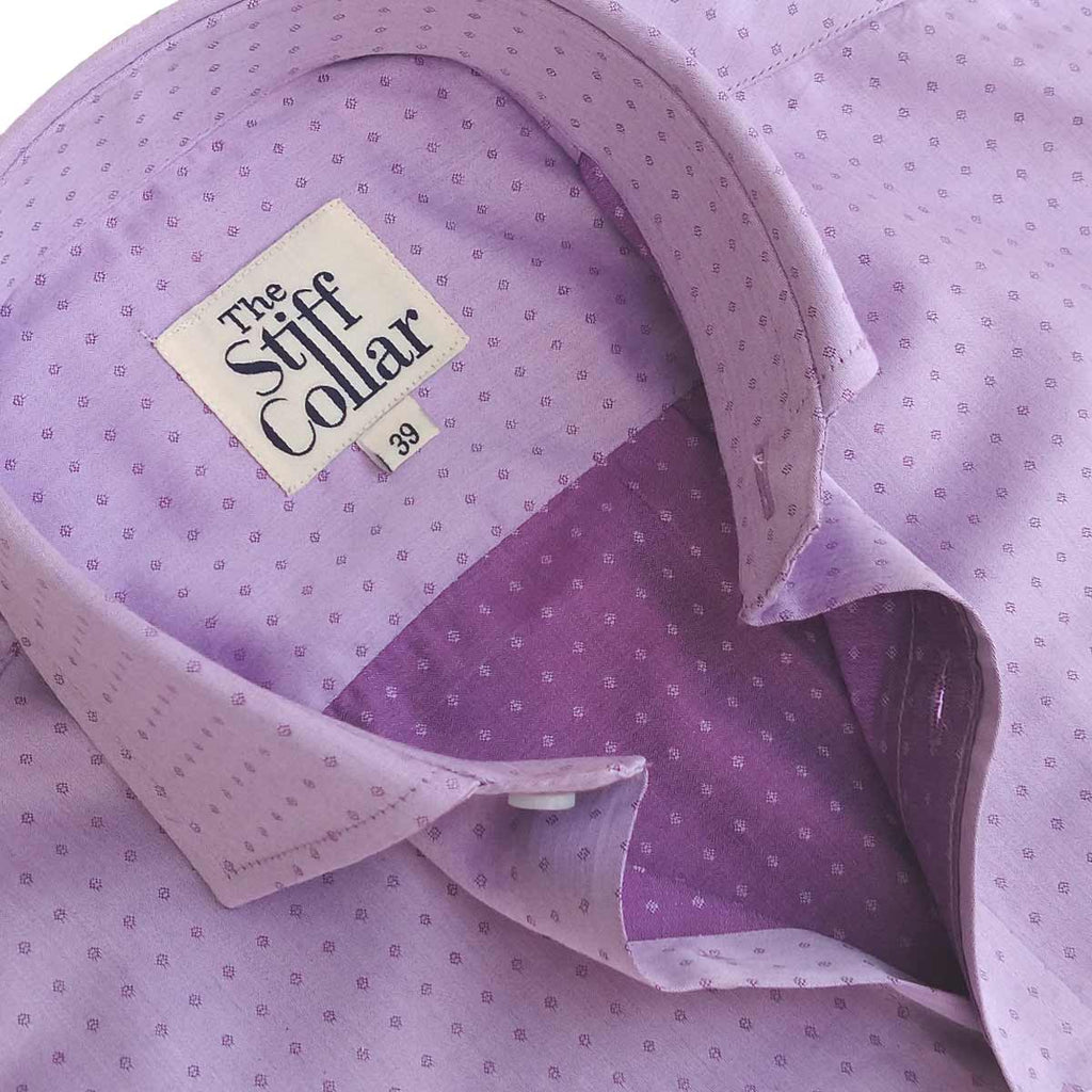 Lilac Giza Cotton Shirt