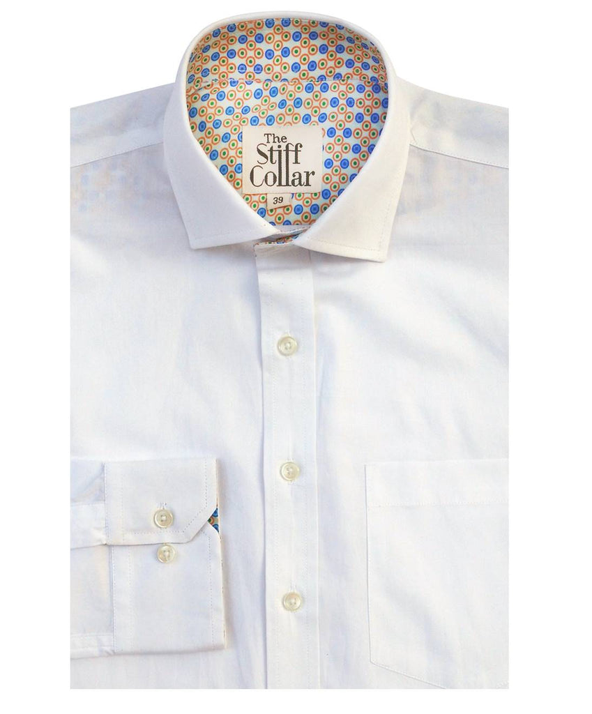 White Twill India Formal Regular Fit Cotton Shirt
