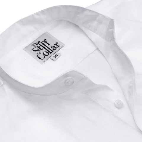 Black Satin Nehru Collar Shirt
