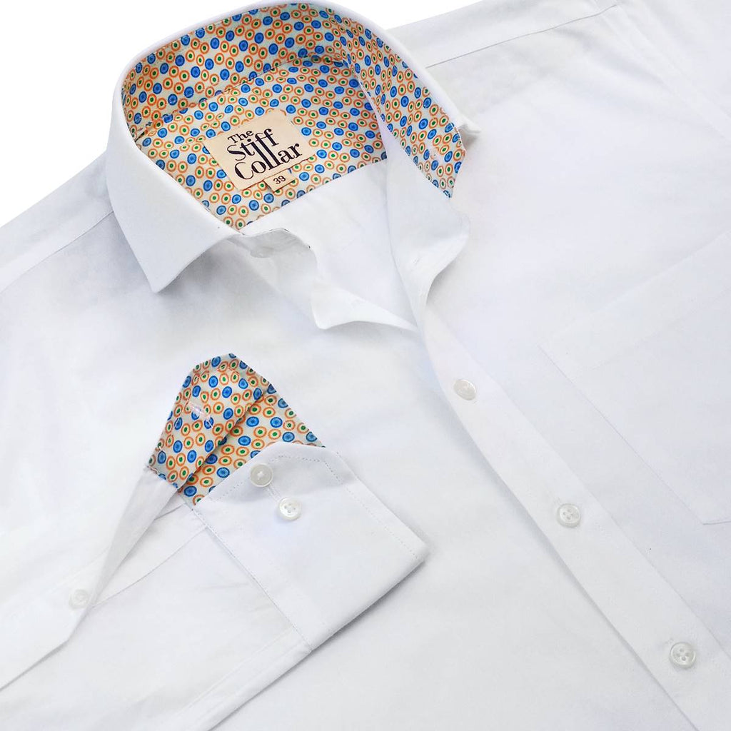 White Twill India Formal Cotton Shirt