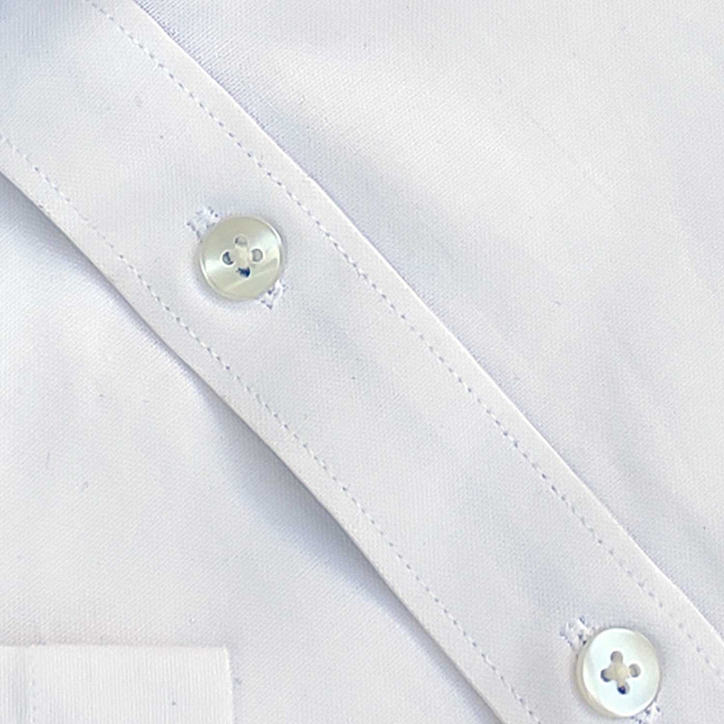 White Oxford with Kutch Blue Lining Half Sleeve Shirt