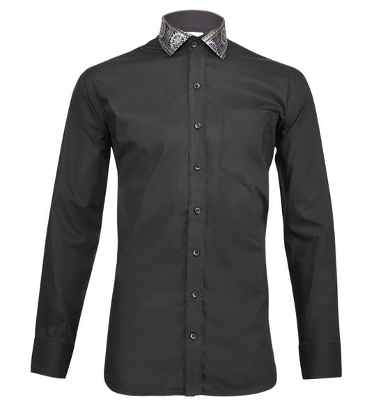 Black Satin Odisha Ikkat Shirt