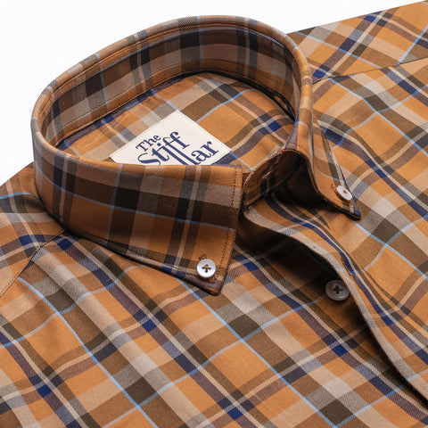 Forest Green Dark Outlined Checks Regular Fit Shirt