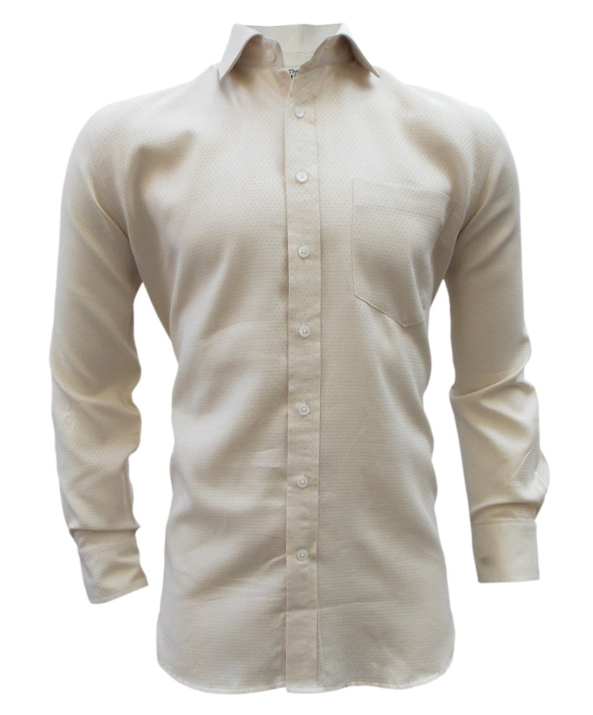 Peach Dobby Giza Cotton Shirt