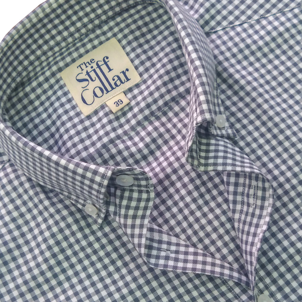 Fossil Grey Gingham Button Down Shirt
