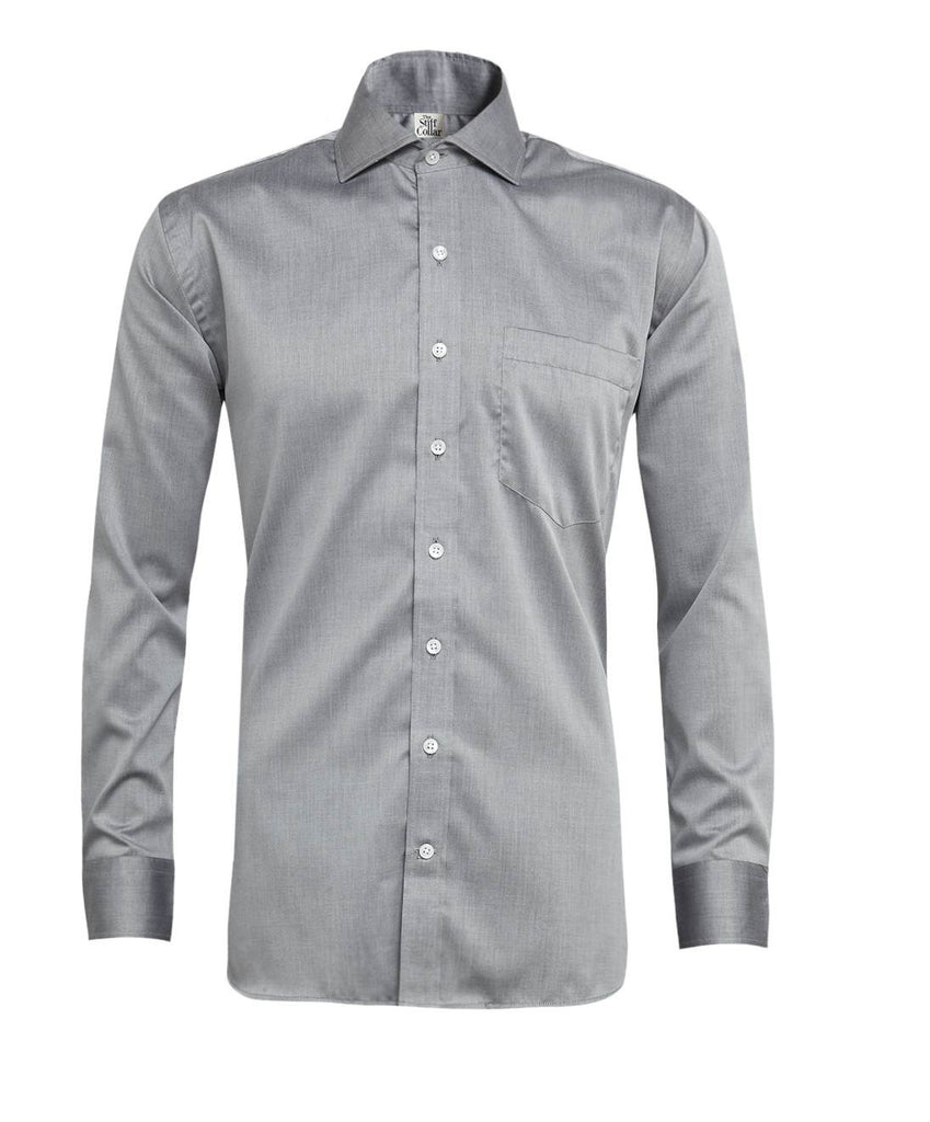 Grey Chambray Giza Cotton Shirt