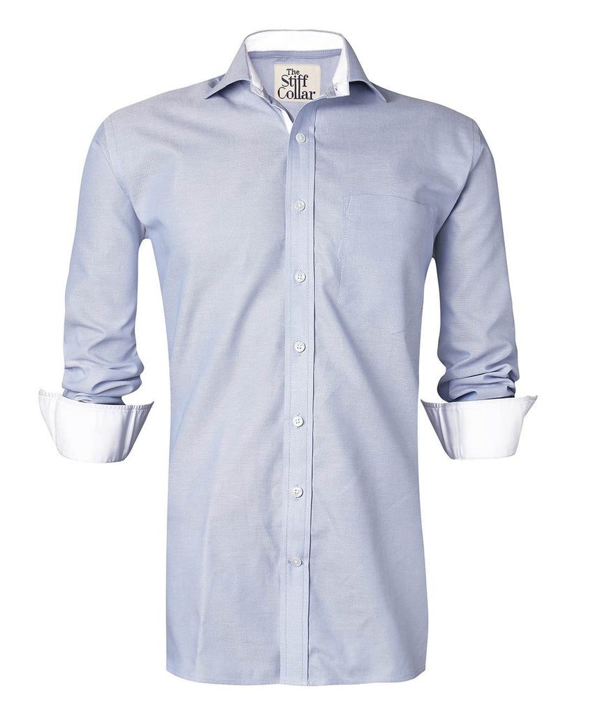 blue oxford cotton india shirt