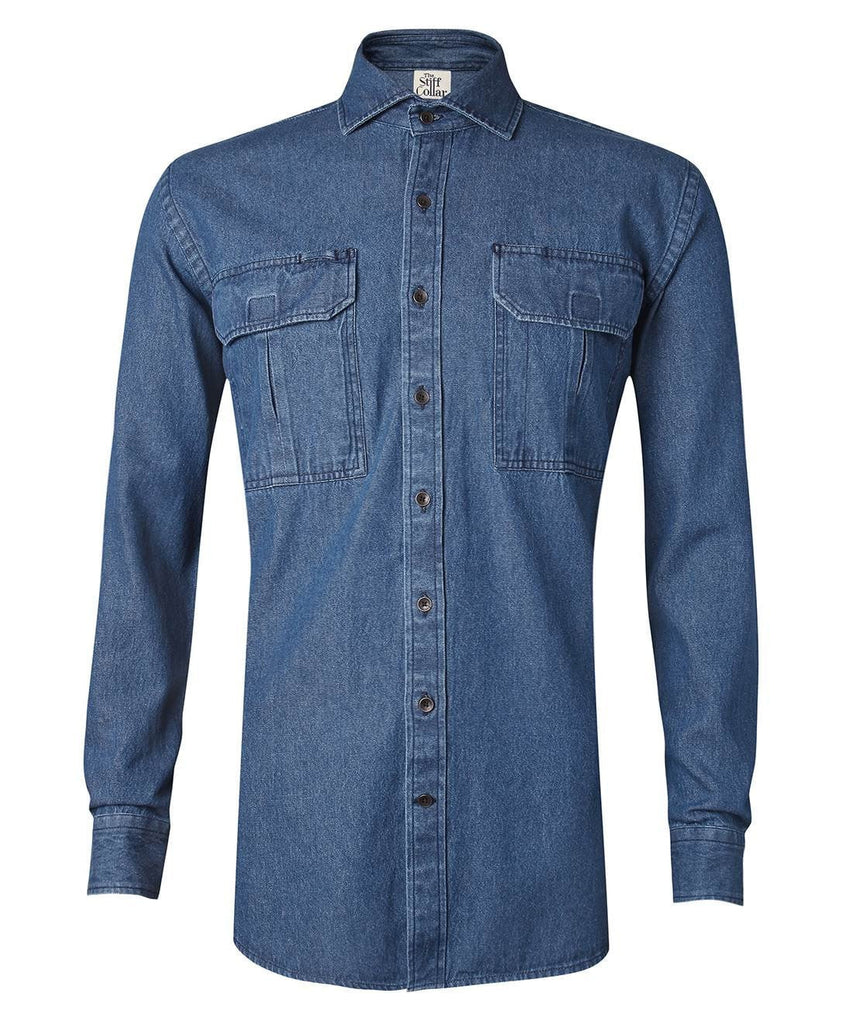 aa56bc82f Indigo Blue Denim Outdoor Shirt