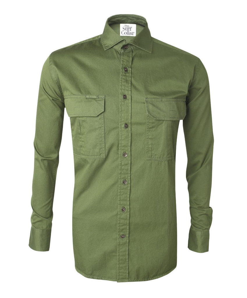Crocodile Green Outdoor Shirt