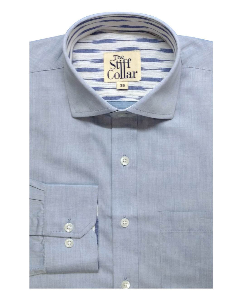 ikat blue cotton shirt