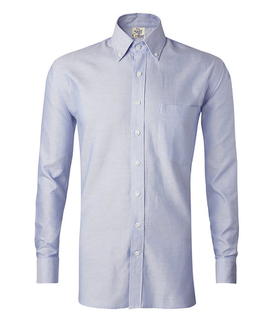 Lavender and Grey Herringbone 2 Ply Premium Giza Cotton Button Down Shirt Combo