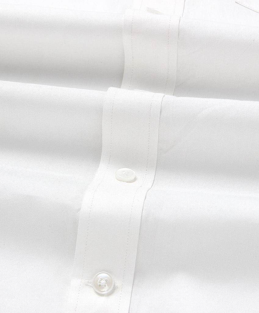White Twill Odisha Ikkat Regular Fit Cotton Shirt