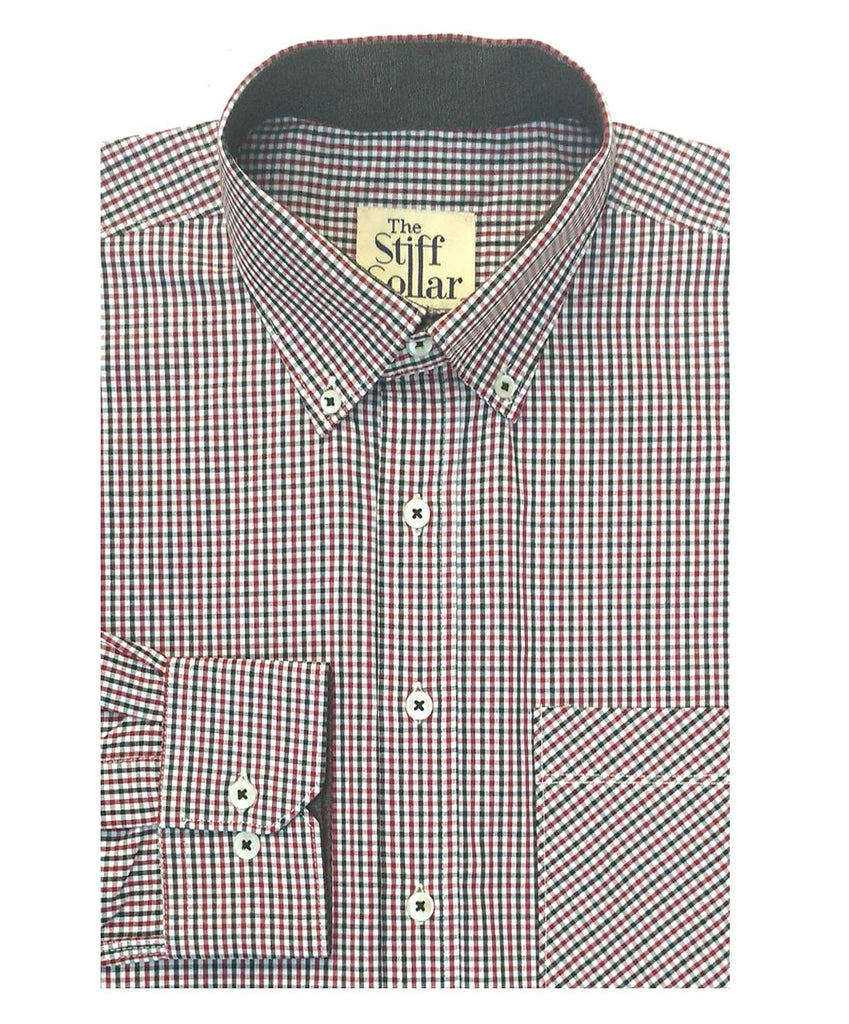 Red Black Checks Sports Shirt Button Down