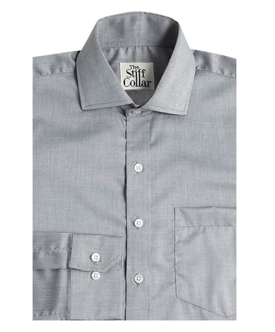 Charcoal Grey Herringbone Shirt