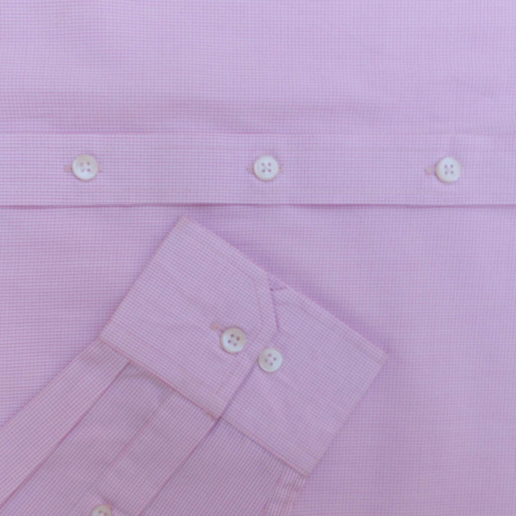 Pink Graph Check Button Down Shirt