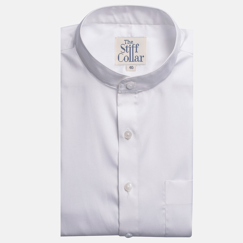 White Oxford 2 Ply Nehru Collar Shirt
