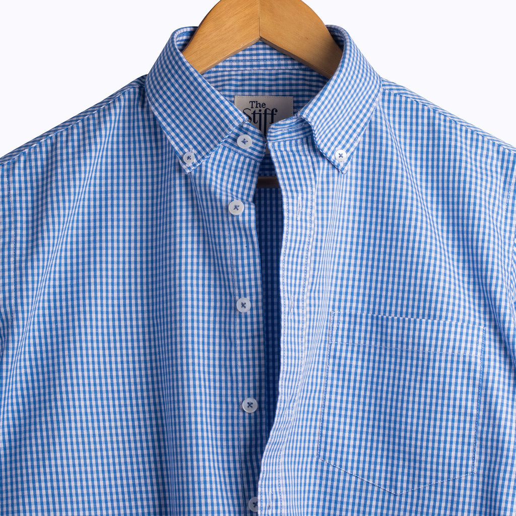 Royal Blue Gingham Button Down Shirt