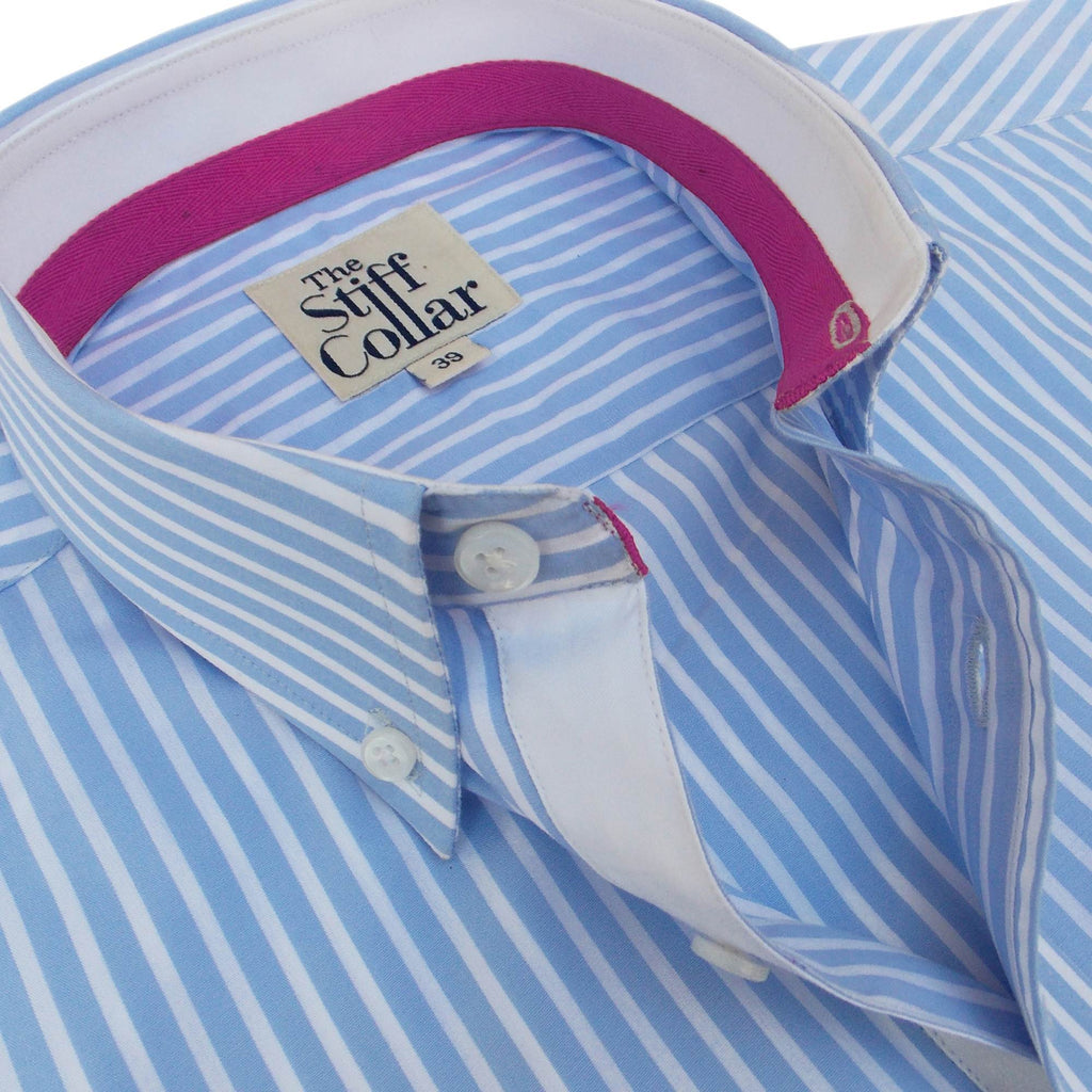 Elphinstone Blue Stripes Button Down Shirt