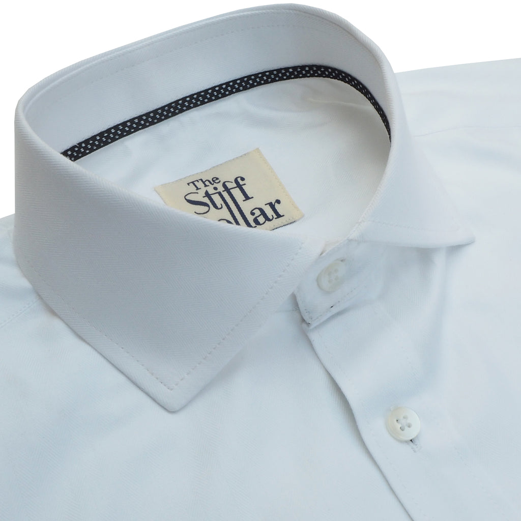 Elvis White Herringbone Shirt