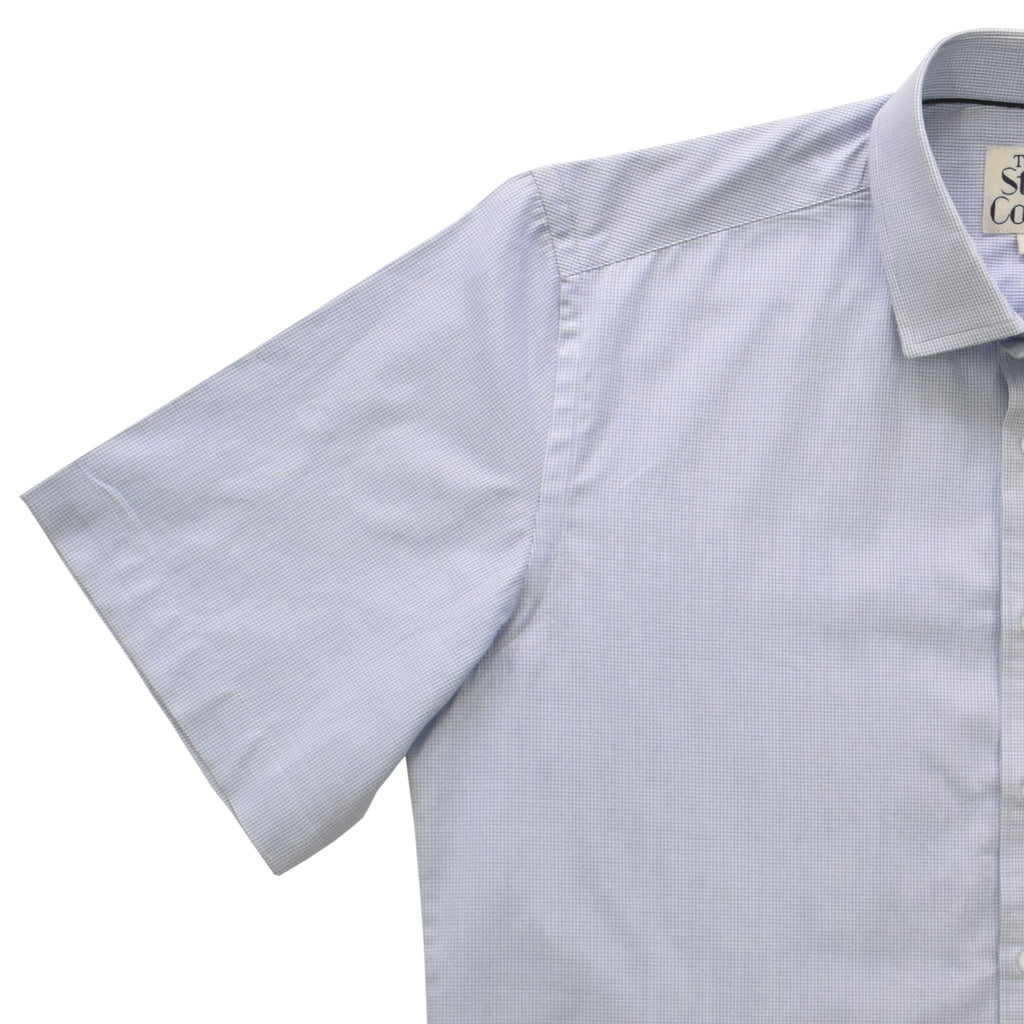 Blue Graph Check Half Sleeves Shirt
