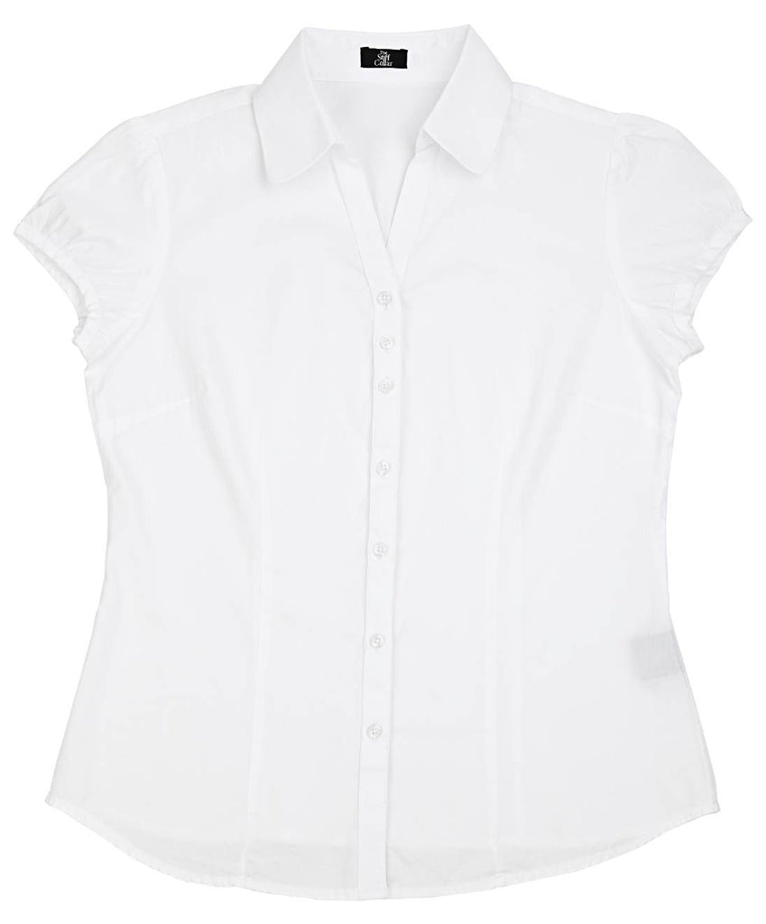 White Satin Women's Shirt