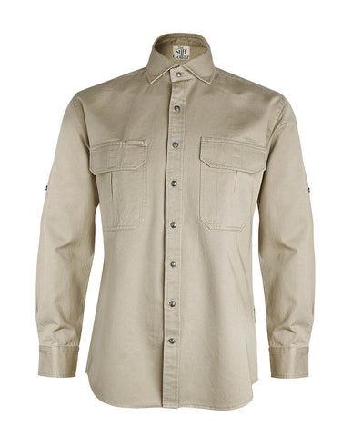 Crocodile Green Outdoor Cotton Shirt