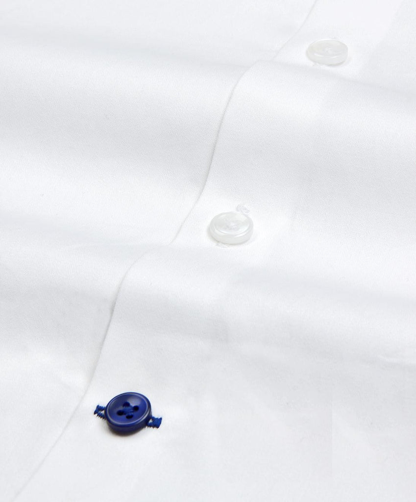 India Formal White Satin Regular Fit Cotton Shirt