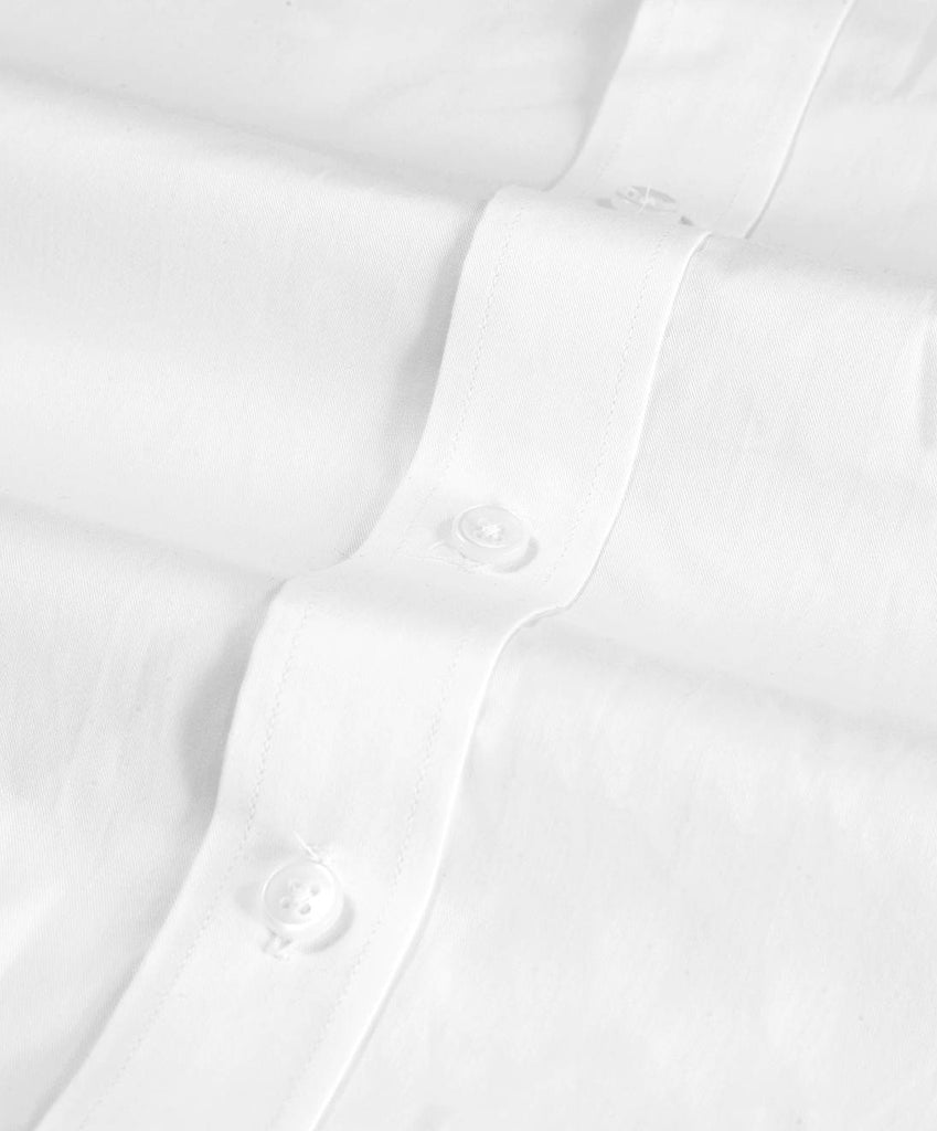 White Twill Half Sleeves Cotton Shirt