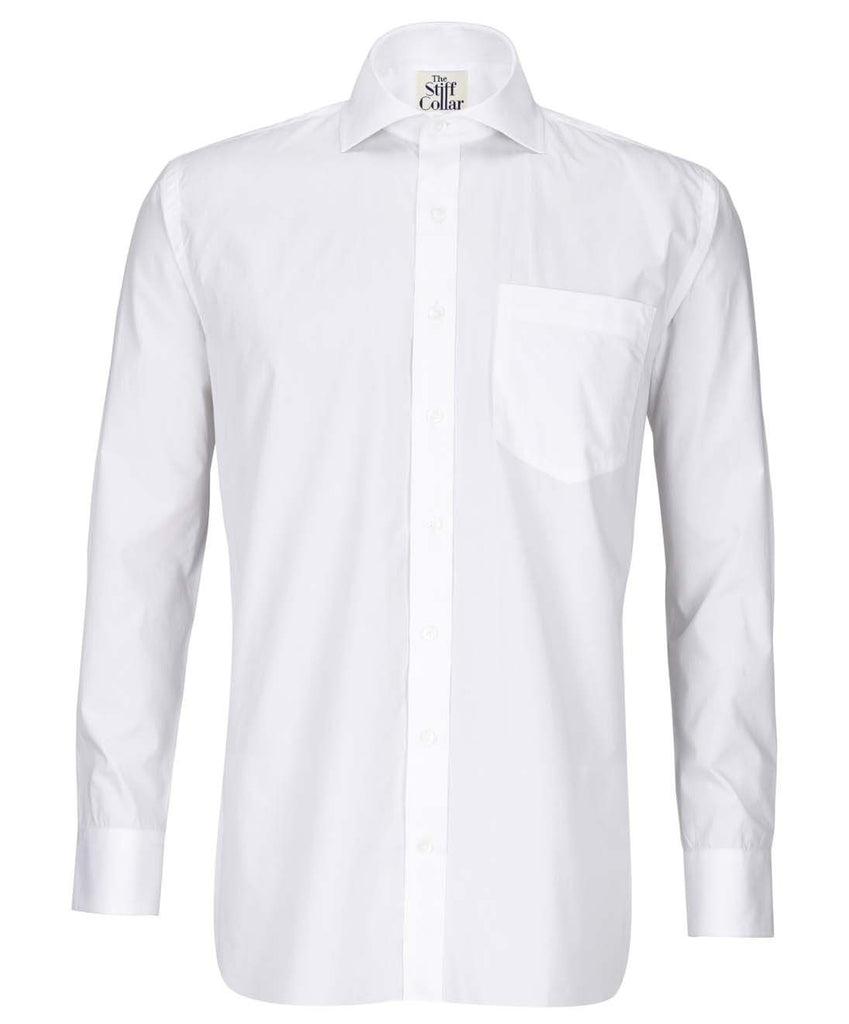 White Satin 2 Ply Regular Fit Giza Cotton Shirt