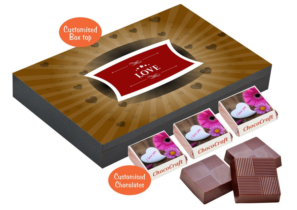 With Chococraft, you can customize chocolates which will be the perfect gift to show your boy your love. You can also print quotes or even picture on the ...