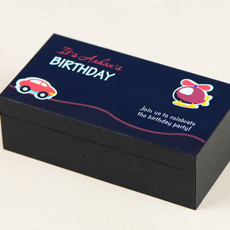 Birthday Invitations - 2 Chocolate Box - All Printed Chocolates (Sample)