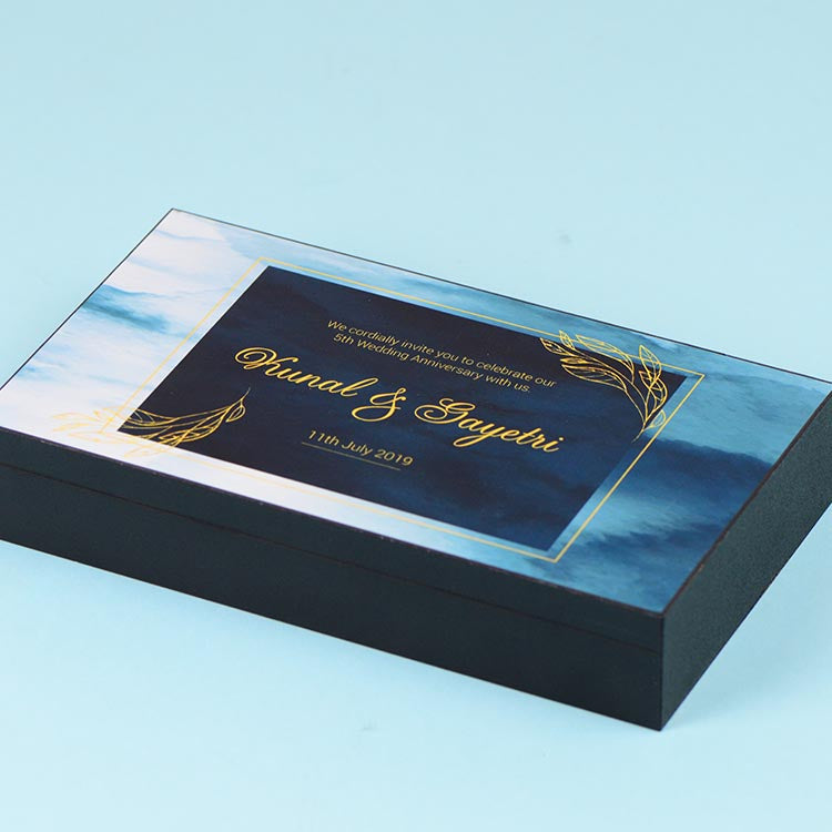 Anniversary Invitations - 6 Chocolate Box - Assorted Chocolates (Sample)