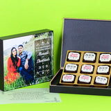 Anniversary Invitations - 9 Chocolate Box - All Printed Chocolates (10 Boxes)