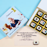 Birthday Invitations - 9 Chocolate Box - All Printed Chocolates (10 Boxes)
