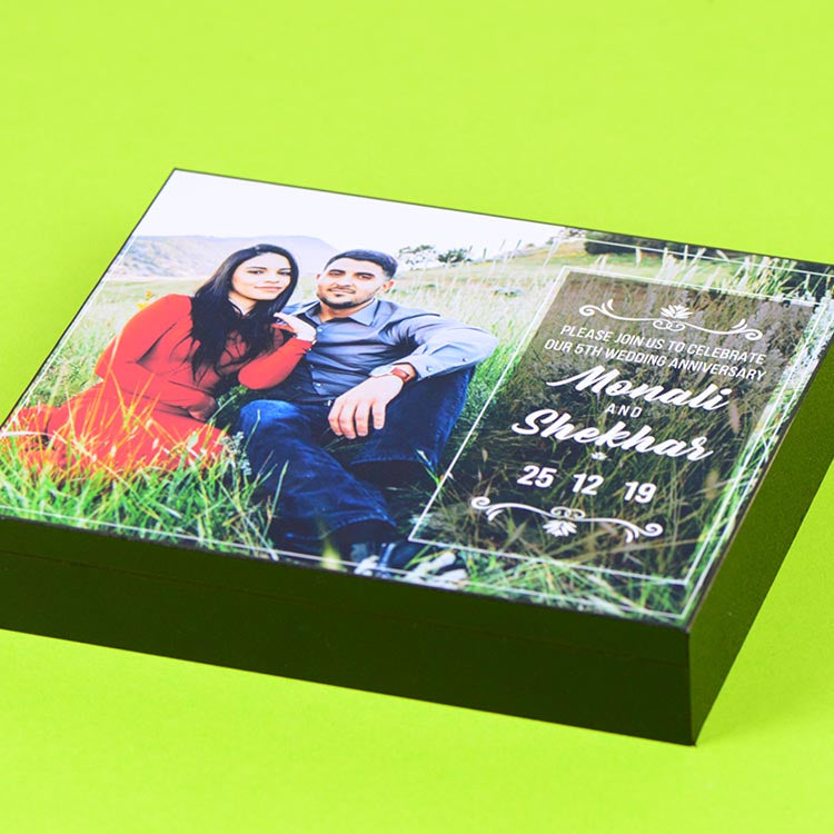 Anniversary Invitations - 9 Chocolate Box - All Printed Chocolates (Sample)