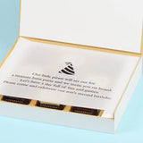 Birthday Invitation - 9 Chocolate Box - Alternate Printed Chocolates (10 Boxes)