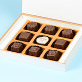 Anniversary Invitations - 9 Chocolate Box - Single Printed Chocolates (10 Boxes)